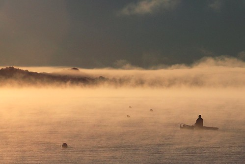 canoeing in morning fog | by northernlightphotograph