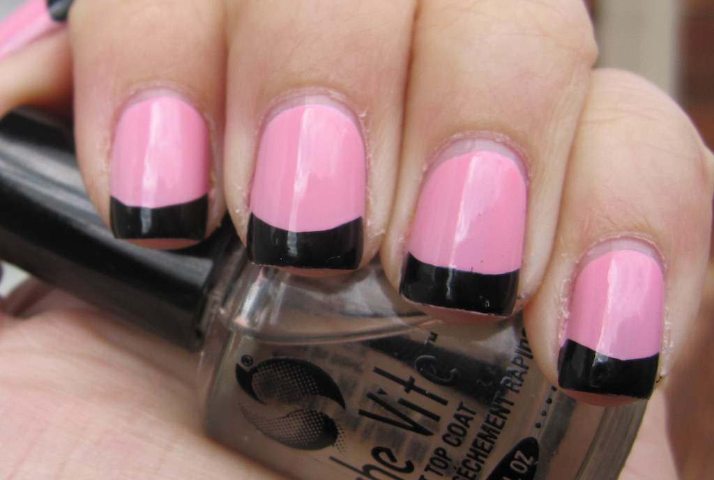 Colored French Manicure | Colors used to achieve this OPI : … | Flickr