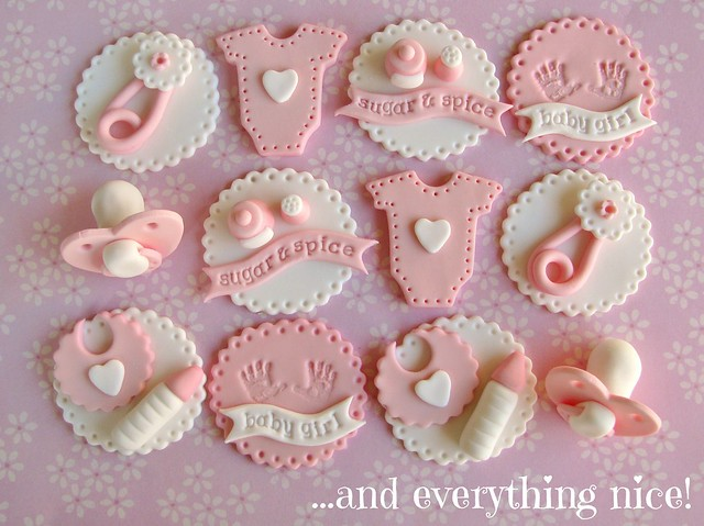 Sugar spice baby shower cupcake toppers flickr photo for Baby shower cupcake picks decoration