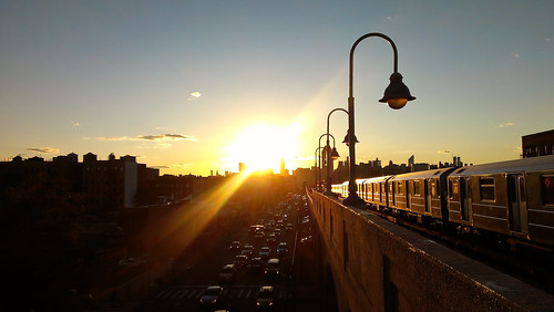 Autumn Sunset on Queens Boulevard - Sunnyside, Queens | by ChrisGoldNY