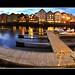 A beautiful evening on Nidelva river in Trondheim, Norway (taken with fish-eye lens)