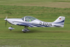 D-EQUA - Aerostyle Breezer B600, rolling for departure on Runway 26L at Barton