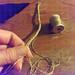 braiding gold floss