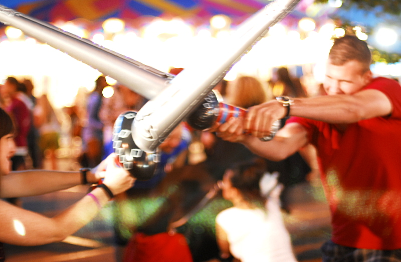Inflatable Sword Fight | Tania A  | Flickr