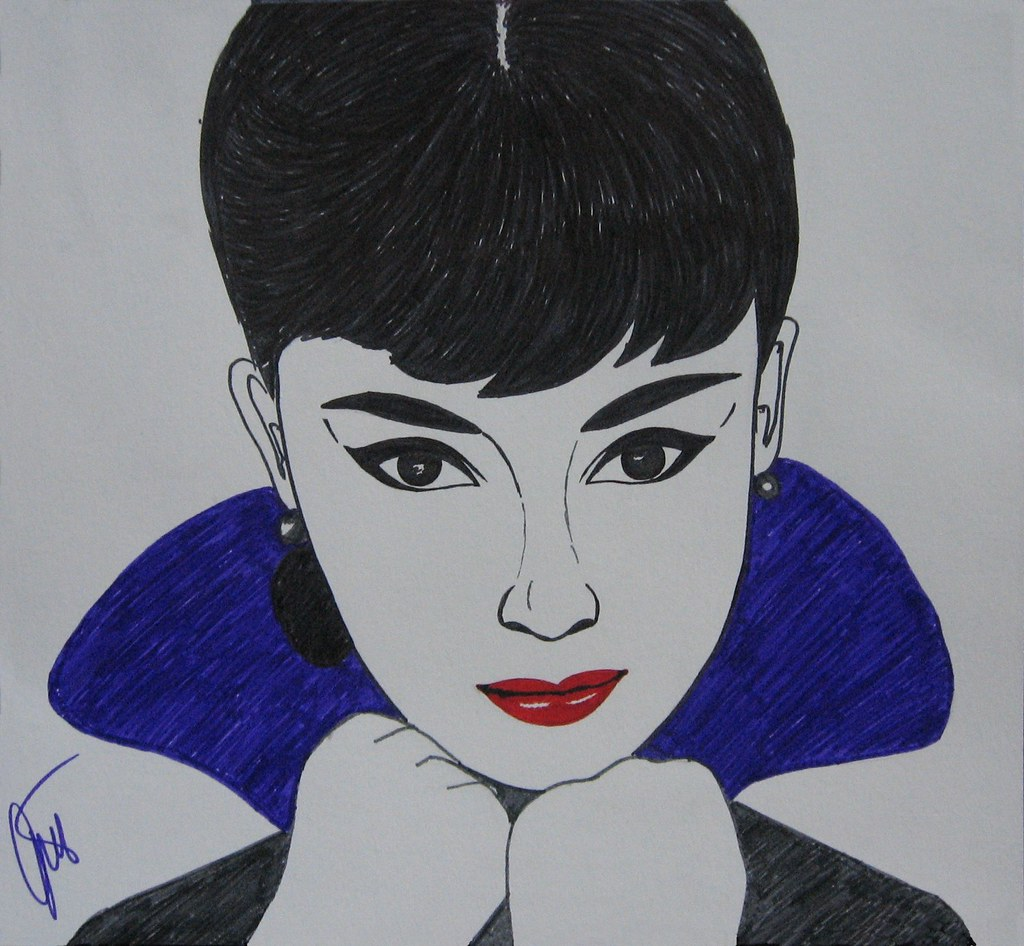 Audrey Hepburn pop-art | This is the first drawing I lately … | Flickr