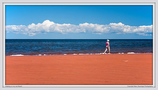 Walking on my Red Beach | by Marc Geuzinge Photography