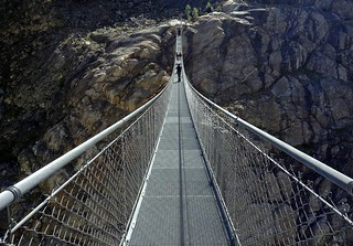 Hanging bridge across Massa Gorge | by PeterCH51