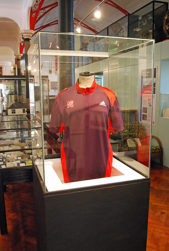 An Olympic games maker shirt in the museum! | by maggie jones.