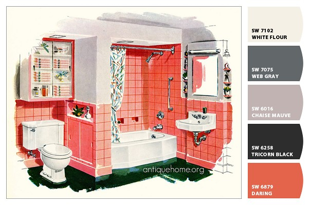Color Scheme 1956 Kohler Bathroom Sherwin Williams