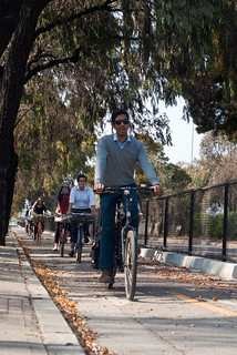 19479 Neal leads staff on Cargo Way separated bikeway to Mendell | by geekstinkbreath