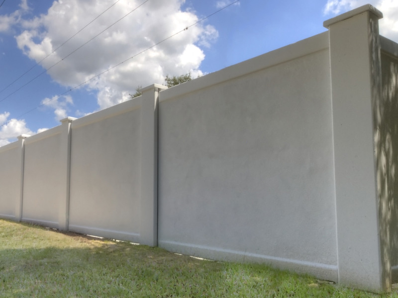 Precast Concrete Perimeter Fence Commercial Projects Durab