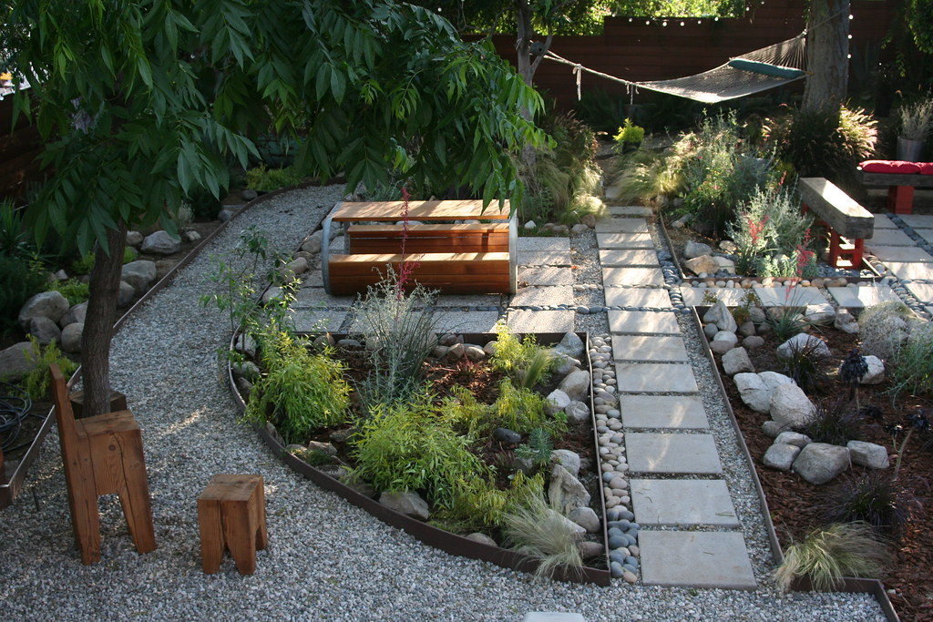 Grey water garden grey water garden with supplemental for Water landscape design