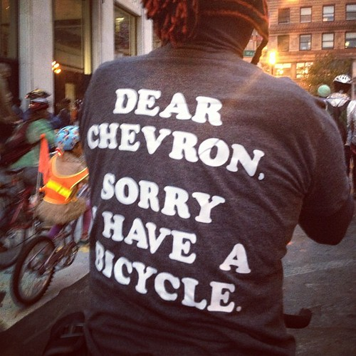 Dear Chevron, sorry I have a bicycle. #sfcm20 | by calitexican