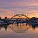 Sunset on Tyne.