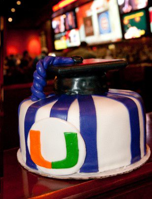 University of Miami Graduation Cake Lana Cakes Flickr