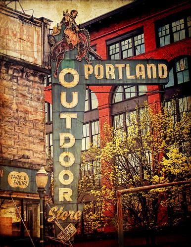 portland outdoor store distressed texture processing flickr. Black Bedroom Furniture Sets. Home Design Ideas