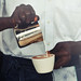 Cappuccino pour by Barista Kofi Effah, C & M Coffee House at LACMA