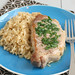 Skillet Pork Chops and Rice with Parsley Butter