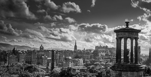 View over Edinburgh, with the Dugald Stewart Monument | by VCD.