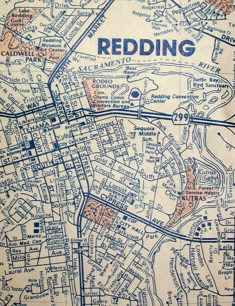 Redding CA 1992  Map By Compass Maps  Davecito  Flickr