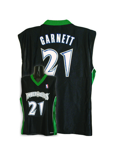 7003W-316 MINNESOTA TIMBERWOLVES WOMENS NBA REPLICA JERSEY   GARNETT, K #21 BLACK/GREEN | by Our_Products