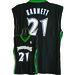7003W-316 MINNESOTA TIMBERWOLVES WOMENS NBA REPLICA JERSEY   GARNETT, K #21 BLACK/GREEN