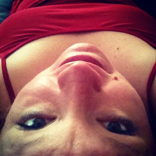 Me upside down #forreals #yoga | by blogging4jobs
