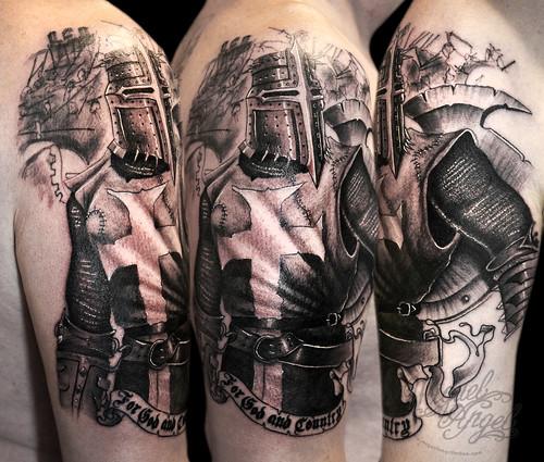 Tattoo Woman Knight: Miguel Angel Custom Tattoo