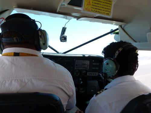 Interior de la avioneta con la que sobrevolamos las Líneas de Nazca (Perú)