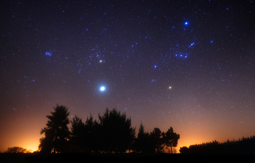 Orion and Jupiter over the Forest | by lrargerich