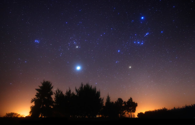 Orion and Jupiter over the Forest | Flickr - Photo Sharing!