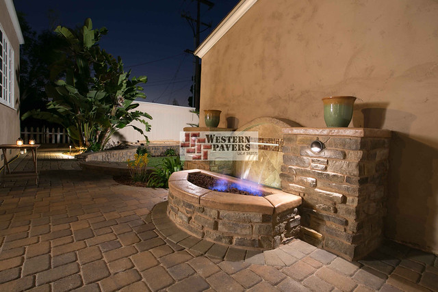 Fire pit water fountain designs flickr photo sharing for Fire pit water feature combo