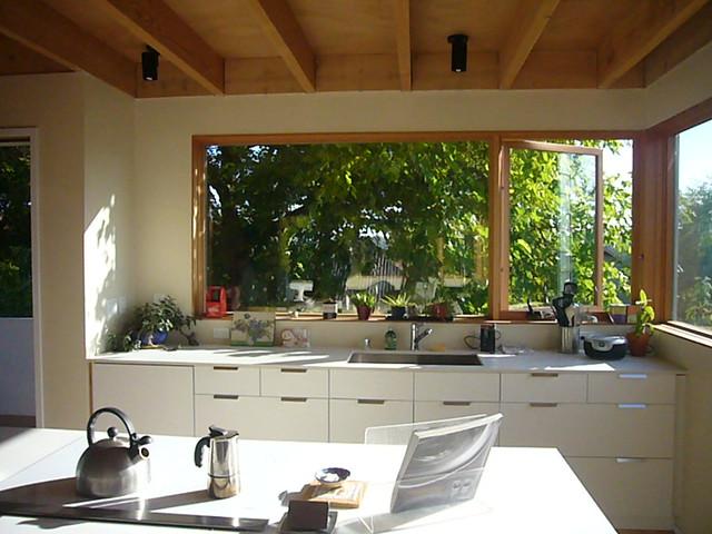 White kitchen w corner windows flickr photo sharing - Corner windows in kitchen ...