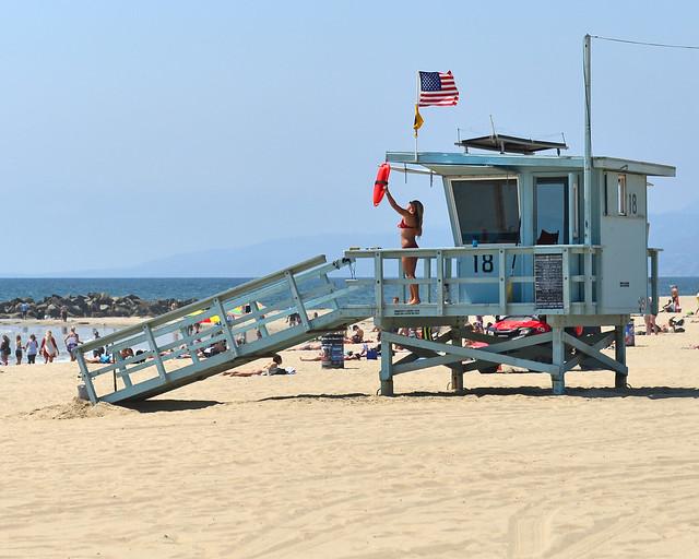 Los Vigilantes de la playa en Los Angeles, Estados Unidos