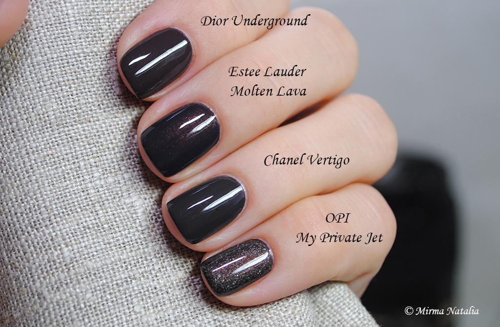 Dior Underground vs. Estee Lauder Molten Lava vs. Chanel V ...
