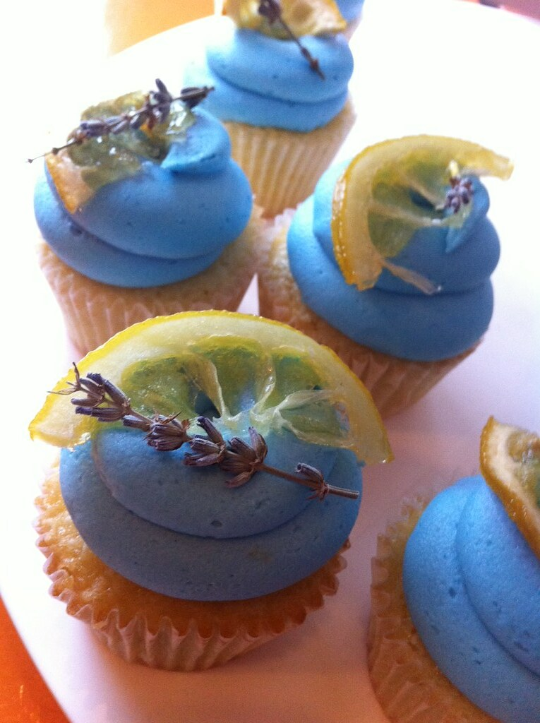 Beautiful Lemon Cake Images : Beautiful Lemon lavender cupcakes by Couture Cakes by Nika ...