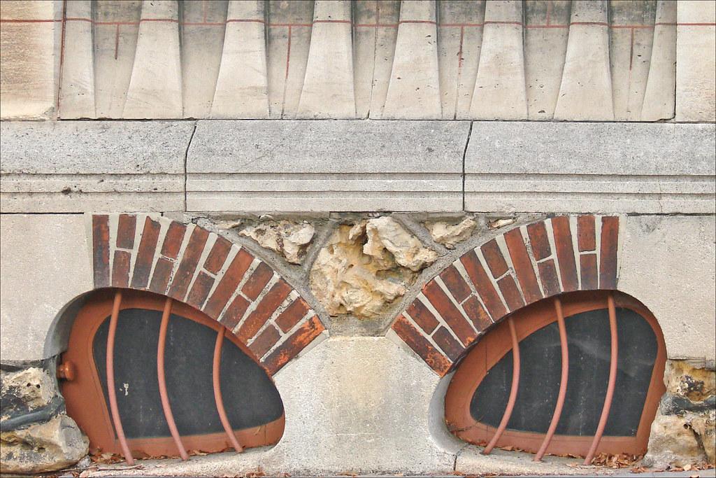 Maison huot de style art nouveau nancy d tail de la for Architecte 3d wikipedia