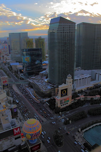 Evening view from the Eiffel Tower, The Paris Las Vegas | by Jay Tilston