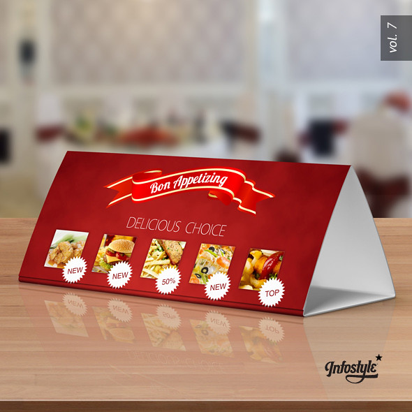 tri fold table tent mock up template vol 7 optimized for flickr
