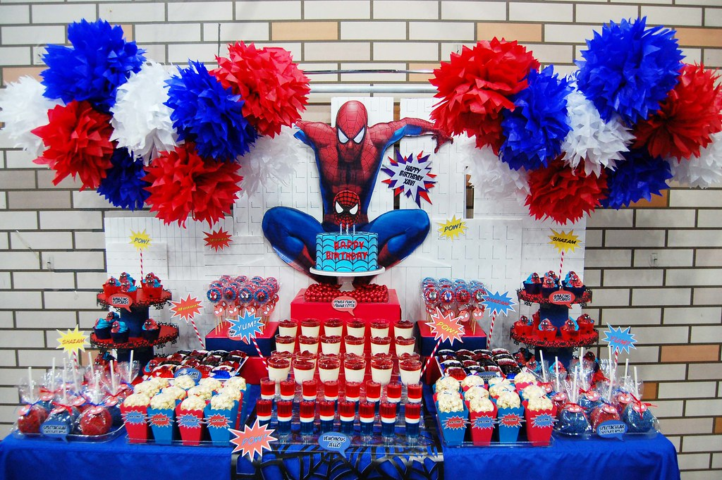 Xavi S The Amazing Spiderman Dessert Table Spectacular Sw Flickr