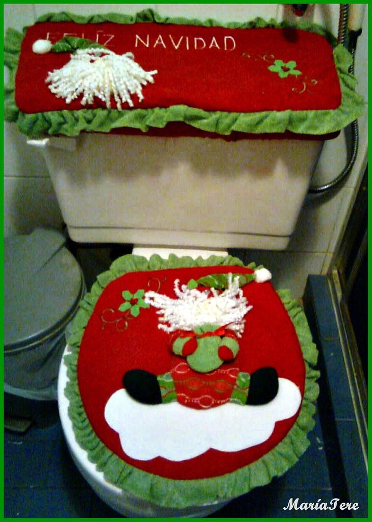 Juegos De Baño En Fieltro:Juego de baño de navidad en fieltro
