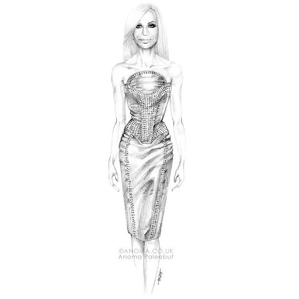 Versace Sketch Templates
