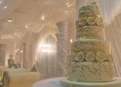 Gold And Ivory Wedding Cakes Ivory Gold Embossed Wedding