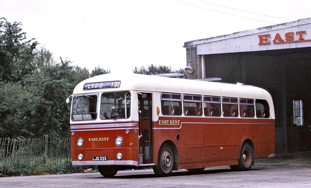 All Car Company >> East Kent: LJG323 1956 AEC Reliance MU3RV Weymann DP41F at… | Flickr