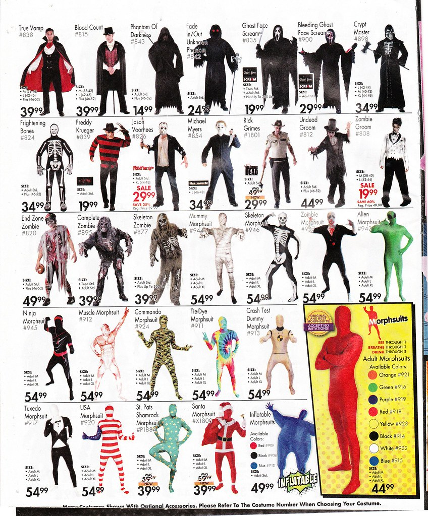 page of scary halloween costumes by paxton holley