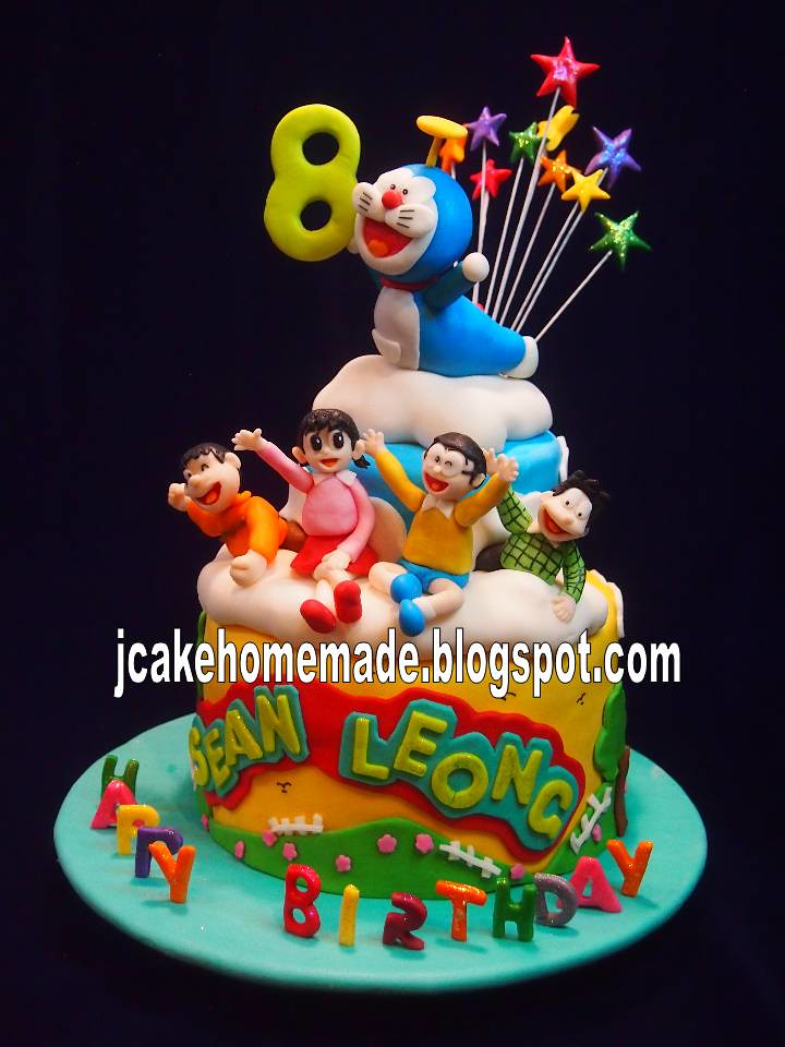 Doraemon Birthday Cake Happy 8th Birthday Sean Leong Than Flickr