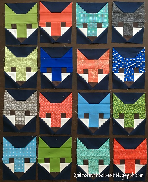 Foxes for Fancy Forest quilt