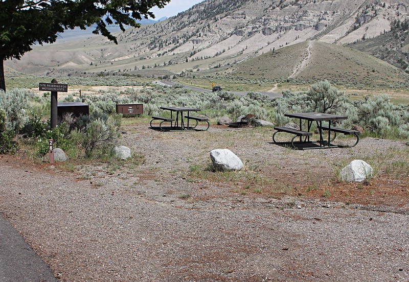 Mammoth Hot Springs Campground Site, Yellowstone National Park