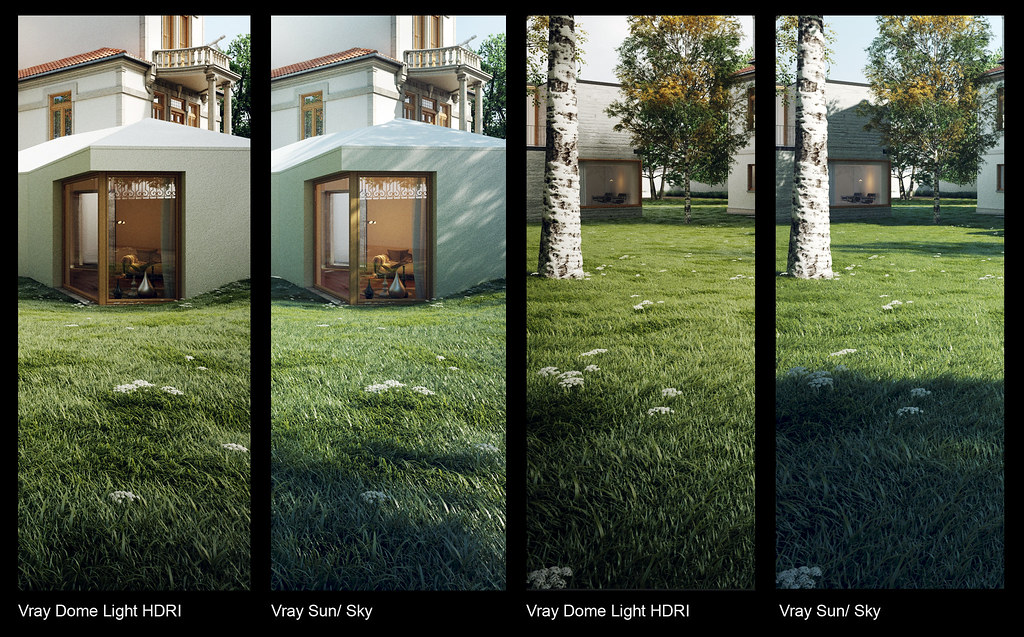Vray Dome Light Vs Vray Sun Vray Sky This Is A Work In Pro Flickr