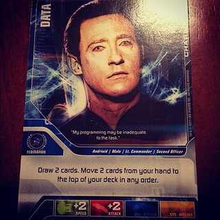 WOOHOO I GOT DATA! (We're playing the Star Trek Deck Building Game) | by CarrieLu